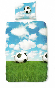 Voetbal dekbedovertrek (wolken)